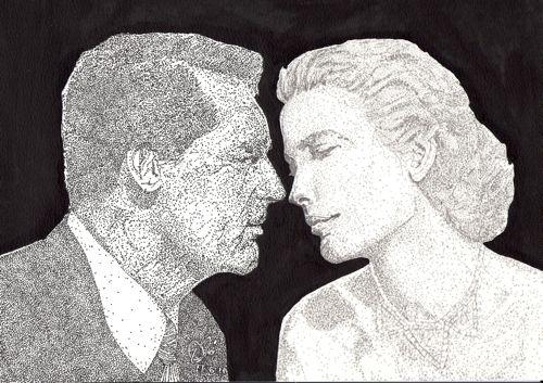 Cary Grant, Grace Kelly por Adzee